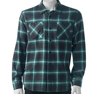 Vans Men's Shirt Plaid Woven Button-Down Small B/B